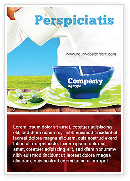 Food & Beverage: Melkvoeding Advertentie Template #04747