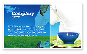 Milk Breeding Business Card Template, 04747, Food & Beverage — PoweredTemplate.com
