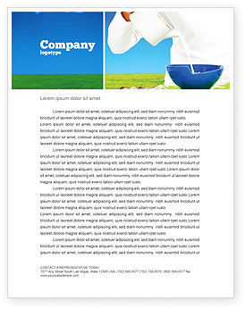 Food & Beverage: Milk Feeding Letterhead Template #04747