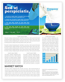 Milk Breeding Newsletter Template, 04747, Food & Beverage — PoweredTemplate.com