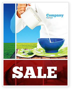 Milk Breeding Sale Poster Template, 04747, Food & Beverage — PoweredTemplate.com