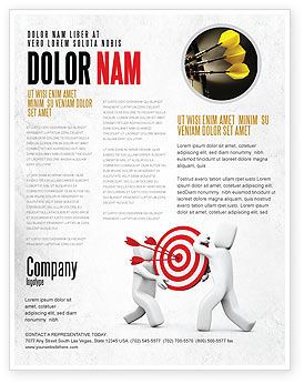 Business Concepts: Templat Flyer Titik Target #04751