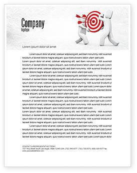 Business Concepts: Target Point Letterhead Template #04751