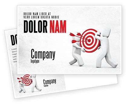 Business Concepts: Modèle de Carte postale de point cible #04751