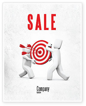 Target Point Sale Poster Template, 04751, Business Concepts — PoweredTemplate.com
