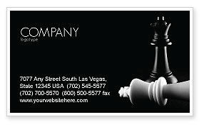 Sports: Checkmate Business Card Template #04754