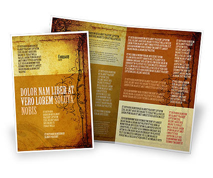 Aged Paper Texture Brochure Template Design And Layout Now 04757 Edtemplate