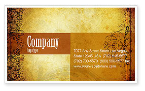 Aged Paper Texture Business Card Template, 04757, Abstract/Textures — PoweredTemplate.com