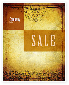 Aged Paper Texture Sale Poster Template, 04757, Abstract/Textures — PoweredTemplate.com