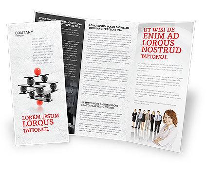 Business Concepts: Templat Brosur Manajemen Kinerja #04761