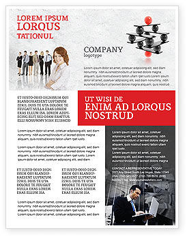 Performance Management Flyer Template, 04761, Business Concepts — PoweredTemplate.com