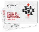 Business Concepts: Performance Management Postcard Template #04761