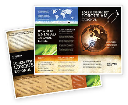 Medical: World Health Brochure Template #04763