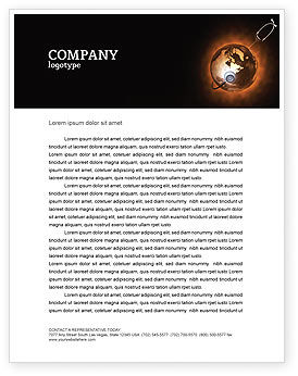 Medical: World Health Letterhead Template #04763