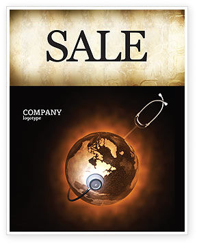 World Health Sale Poster Template, 04763, Medical — PoweredTemplate.com