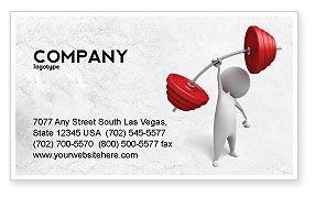 Business Concepts: Strength Business Card Template #04770