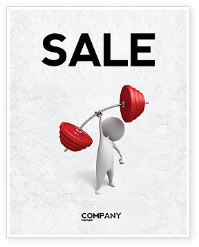 Business Concepts: Strength Sale Poster Template #04770