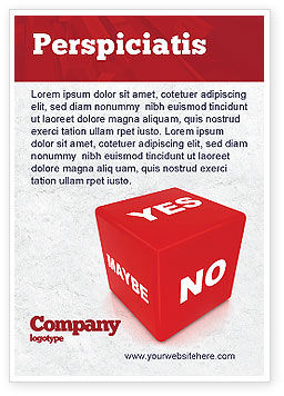 Decision Cube Ad Template