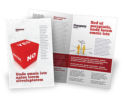 Decision Cube Brochure Template, 04774, Consulting — PoweredTemplate.com