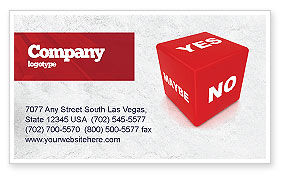 Decision Cube Business Card Template, 04774, Consulting — PoweredTemplate.com