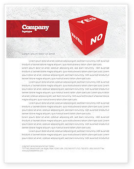 Decision Cube Letterhead Template