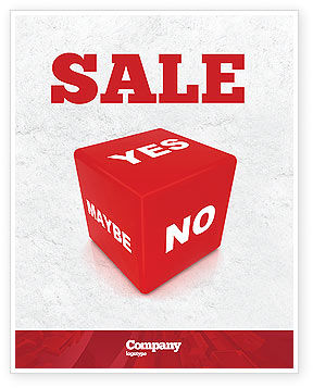 Consulting: Decision Cube Sale Poster Template #04774