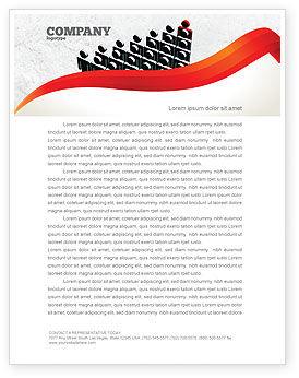 Administrative Achievements Letterhead Template, 04775, Careers/Industry — PoweredTemplate.com