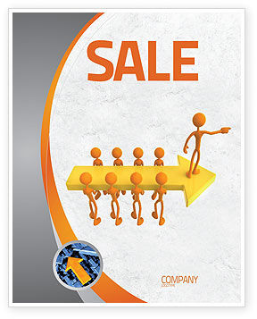 Specified Direction Sale Poster Template