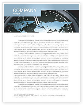 Global: World Clock Letterhead Template #04781