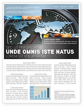 World Clock Newsletter Template, 04781, Global — PoweredTemplate.com