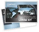 Global: World Clock Postcard Template #04781
