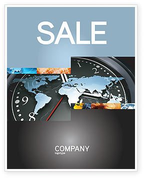World Clock Sale Poster Template