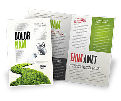 Green Path Brochure Template, 04785, Nature & Environment — PoweredTemplate.com