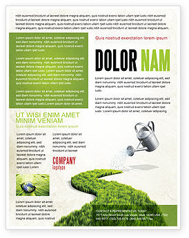 Green Path Flyer Template, 04785, Nature & Environment — PoweredTemplate.com