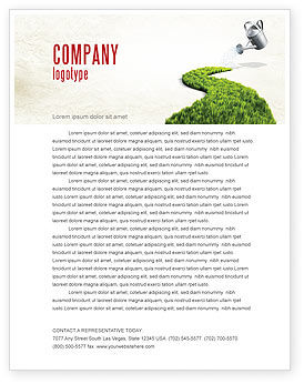 Nature & Environment: Green Path Letterhead Template #04785