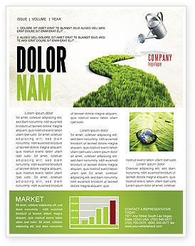 Nature & Environment: Green Path Newsletter Template #04785