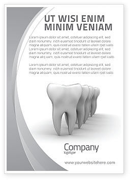 Teeth Ad Template, 04787, Medical — PoweredTemplate.com