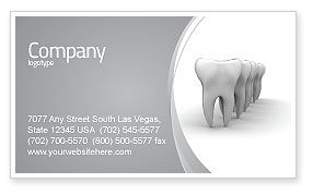 Medical: Teeth Business Card Template #04787