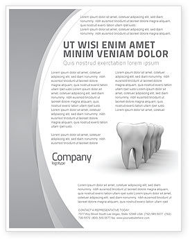Teeth Flyer Template, 04787, Medical — PoweredTemplate.com