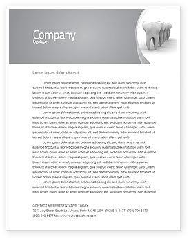 Teeth Letterhead Template, 04787, Medical — PoweredTemplate.com