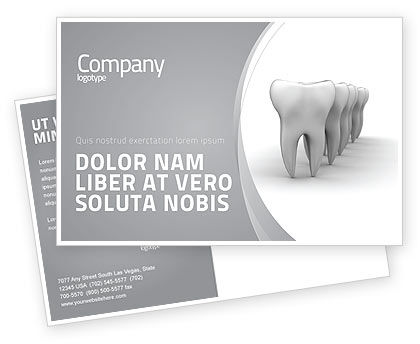 Teeth Postcard Template, 04787, Medical — PoweredTemplate.com
