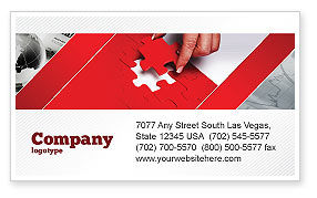Consulting: Red Piece Business Card Template #04790