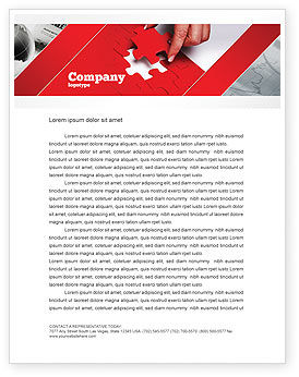Red Piece Letterhead Template, 04790, Consulting — PoweredTemplate.com