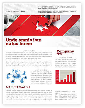 Consulting: Red Piece Newsletter Template #04790