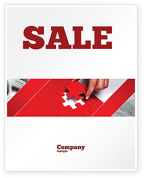Red Piece Sale Poster Template, 04790, Consulting — PoweredTemplate.com