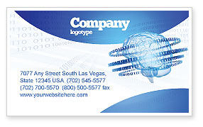 Technology, Science & Computers: Artificial Mind Business Card Template #04792