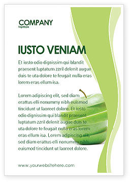 Food & Beverage: Sliced Green Apple Ad Template #04794