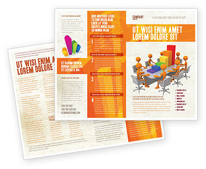 Discussing Results Brochure Template, 04800, Consulting — PoweredTemplate.com