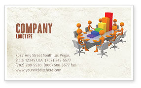 Discussing Results Business Card Template, 04800, Consulting — PoweredTemplate.com