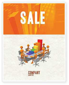 Discussing Results Sale Poster Template, 04800, Consulting — PoweredTemplate.com